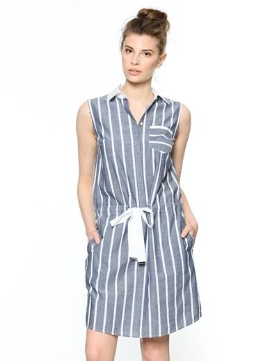 Çizgili Kolsuz Gömlek Elbise-Tommy Hilfiger